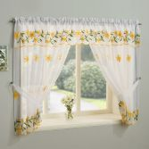 Daisy Net Curtain Window Set - Yellow