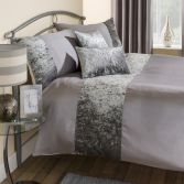 Amalfi Crushed Velvet Boudoir Filled Cushion - Silver