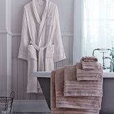 Bianca 100% Cotton Soft Bathrobe - Cream