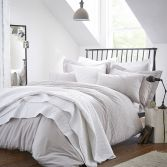Bianca 100% Cotton Soft Embroidered Circle Duvet Cover Set - Grey
