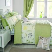 Botanique Floral Reversible Duvet Cover Set - Green
