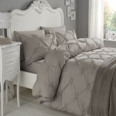Elissa Embroidered 100% Cotton Duvet Cover Set - Silver