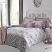 Indra Reversible Duvet Cover Set - Blush Pink