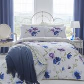 Celestine Floral Reversible Duvet Cover Set - Blue