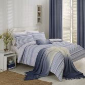 Hadlow Stripe Reversible Duvet Cover Set - Blue