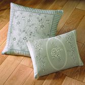 Malton Floral Cushion Cover - Slate Grey