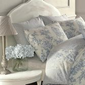 Pair of Malton Floral Housewife Pillowcases - Blue