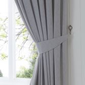 Dijon Tie Backs - Silver Grey