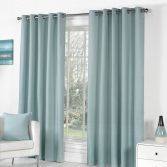 Sorbonne Fully Lined Eyelet Curtains - Duck Egg Blue