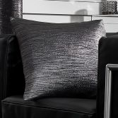 Glitter Glamour Pack of 4 Cushion Covers - Black