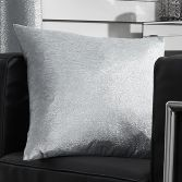 Glitter Glamour Cushion Cover - Silver Grey