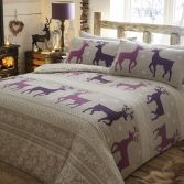 Helsinki Thermal Flannelette Duvet Cover Set - Plum Purple