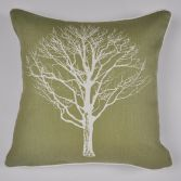 Woodland Trees Cushion Cover - Green