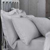 Bianca 100% Cotton Soft 200 TC Housewife Pillowcases - Grey