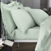 Bianca 100% Cotton Soft 200 TC Extra Deep Fitted Sheet - Green