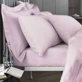 Bianca 100% Cotton Soft 200 TC Flat Sheet - Blush Pink