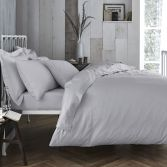 Bianca 100% Cotton Soft 200 TC Duvet Cover - Grey