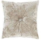 Catherine Lansfield Luxury Crushed Velvet Diamante Filled Cushion - Natural Cream