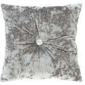 Catherine Lansfield Luxury Crushed Velvet Diamante Filled Cushion - Silver Grey