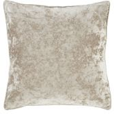 Catherine Lansfield Luxury Crushed Velvet Cushion Cover - Natural Cream