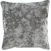 Catherine Lansfield Luxury Crushed Velvet Cushion Cover - Silver Grey