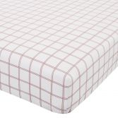 Catherine Lansfield Tartan Check Flannelette Fitted Sheet - Red