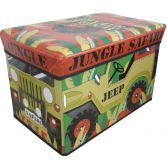 Kids Jeep Jungle Safari Novelty Storage Toy Chest