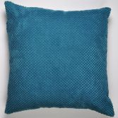Plain Chenille Spot Cushion Cover - Teal Blue