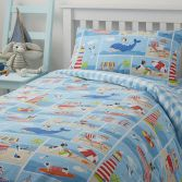 Patch Seaside Beach Duvet Cover Set - Multi
