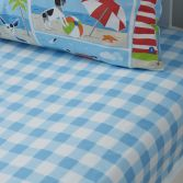 Patch Seaside Beach Check Fitted Sheet - Multi