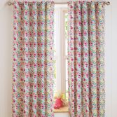 Joy Floral Fully Lined Eyelet Curtains - Multi