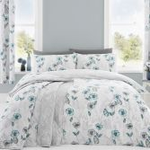 Fliss Floral Duvet Cover Set - Teal Blue