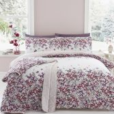 Melinda Floral Duvet Cover Set - Purple
