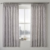 Alford Blackout Tape Top Curtains - Silver Grey