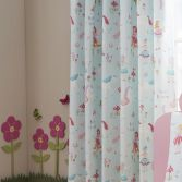 Magical Unicorns Fully Lined Tape Top Curtains - Multi