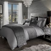 Kylie Minogue Saturn Velvet Duvet Cover - Silver Grey
