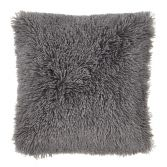 Catherine Lansfield Cuddly Cushion Cover - Charcoal Grey