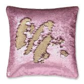 Catherine Lansfield Sequin Mermaid Cushion Cover - Rose Gold
