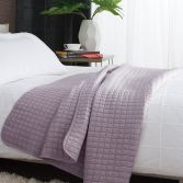 Tamarind Quilted Microfibre Bedspread Throw - Raspberry Pink