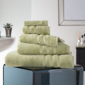 Hotel Quality Opulence 100% Cotton 800gsm Bathroom Towel - Green Tea