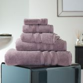 Hotel Quality Opulence 100% Cotton 800gsm Bathroom Towel - Mauve Purple