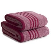 Berkley 100% Cotton Bathroom Towel with Marle Effect - Red