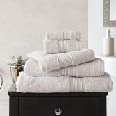 Bliss Pima 100% Cotton 650gsm Bathroom Towel - Silver Grey