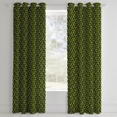 Catherine Lansfield Neon Football Fully Lined Eyelet Curtains - Yellow
