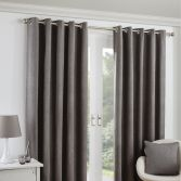 Twilight Fully Lined Blackout Eyelet Ready Made Curtains - Latte
