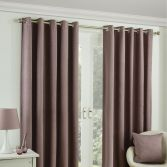 Twilight Fully Lined Blackout Eyelet Ready Made Curtains - Pink