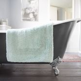 Bliss Reversible 100% Cotton 2200GSM Bath Mat - Spearmint Green