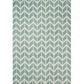 Arlo Geometric Chevron Rug - Blue 05