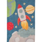 Candy Hand Tufted Kids Rocket Rug - Multi 0010