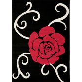 Couture Machine Woven Floral Rug - Multi Red 03
